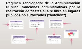 Régimen sancionador de la Administración Pública. Sanciones