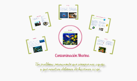 Copy of Contaminación Marina