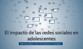 El impacto de las redes sociales en dolescentes