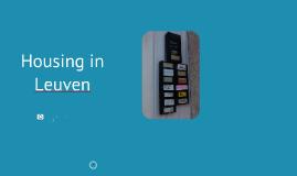 Housing in Leuven UCLL September 2018/Februari 2019