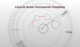 Linea de tiempo Participación Ciudadana