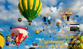 Copy of ALBUQUERQUE INTERNATIONAL BALLOON FIESTA - NEW MEXICO, USA