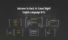 ELA Welcome to Back to School Night!