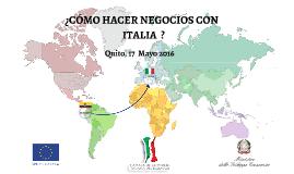 Copy of OPORTUNIDADES COMERCIALES ECUADOR - ITALIA