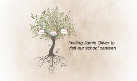 Inviting Jamie Oliver to visit our school canteen