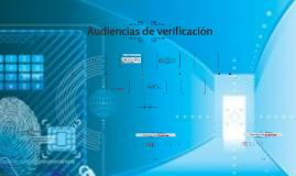 AUDIENCIAS DE VERIFICACIÓN