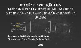 OPERAÇÕES DE MANUTENÇÃO DE PAZ:
