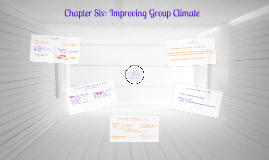 Chapter Six: Improving Group Climate