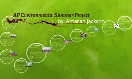 AP Environmental Summer Project