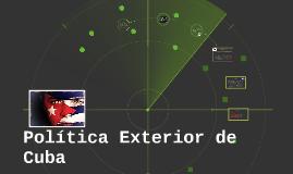 Política Exterior de Cuba