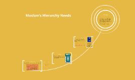 Maslow's Needs