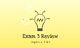 ACHM 120 Review Exam 3