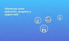 Diferencias entre aplicación, progama y pagina wep