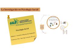 Copy of Investigación en Psicología Social ECP