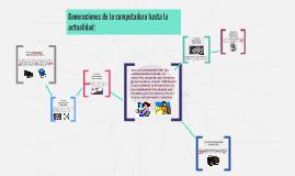GENERACIONES DE LA COMPUTADORA HASTA LA ACTUALIDAD