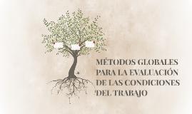 MÉTODOS GLOBALES PARA LA EVALN DE LAS CONDICIONES DEL TRABAJ
