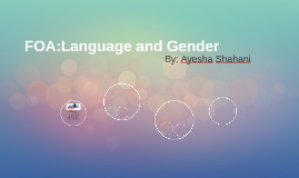 FOA:Language and Gender