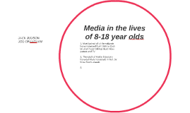 Media in the lives of 8-18 year olds