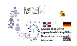 Análisis de la Oferta Exportable de la Republica Dominicana