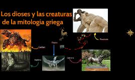 Los dioses de la mytología griega