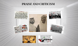 PRAISE AND CRITICISM