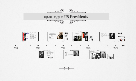 1920-1930s US Presidents