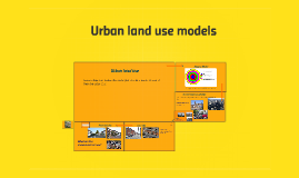 Copy of Urban land use models