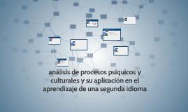 analisis de procesos psiquicos y culturales y su aplicacion
