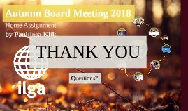 Autumn ILGA Board Meeting