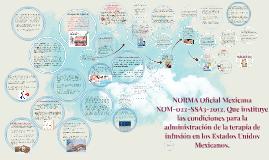 NORMA Oficial Mexicana NOM-022-SSA3-2012, Que instituye las