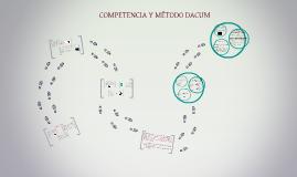COMPETENCIA Y MÉTODO DACUM