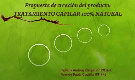 Propuesta de creación del producto:
