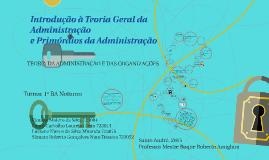 Copy of Introdução à Teoria Geral da Administração