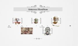 Primeros sistemas filosóficos