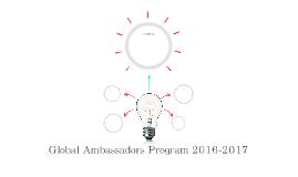 Global Ambassadors Program 2016-2017