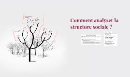 Version 2016 Comment analyser la structure sociale ?