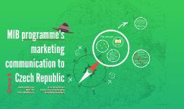 IB programme's marketing communication to Czech Republic