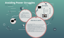 Avoiding Power Struggles