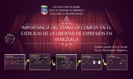 Importancia del Stand Up Comedy en el ejercicio de la libe