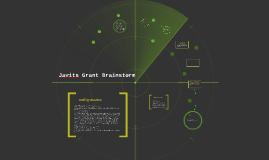 Javits Grant Brainstorm