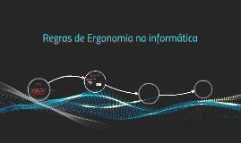 Regras de Ergonomia na informática
