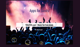 YOUZEEK: Apps for Bands Workshop