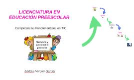 LICENCIATURA EN EDUCACIÓN PREESCOLAR