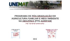 PROGRAMA DE PÓS-GRADUAÇÃO EM AGRICULTURA FAMILIAR E MEIO AMB
