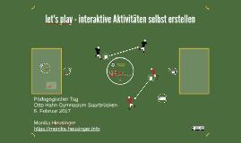 play - interaktive Aktivitäten selbst erstellen