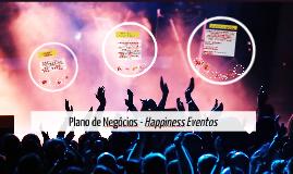 Plano de Negócios - Happiness Eventos