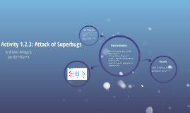 Activity 1.2.3; Attack of Superbugs