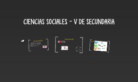 CIENCIAS SOCIALES - V DE SECUNDARIA