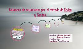 Copy of Balanceo de ecuaciones por el método de Redox y Tanteo.
