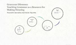 Grammar Dilemma: